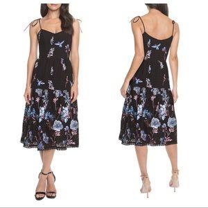 Dress The Population Abbie Floral Midi Dress